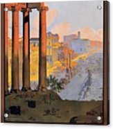 1920 Paris To Rome Train Travel Poster Acrylic Print