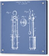 1920 Tuning Fork Patent - Light Blue Acrylic Print