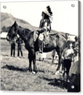 1920s Native And Crowd Acrylic Print