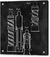 1921 Barber Pole Illustration Acrylic Print