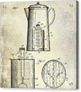 1921 Coffee Pot Patent Acrylic Print
