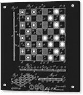 1923 Checkers And Chess Board Acrylic Print