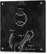 1924 Baseball Patent Illustration Acrylic Print