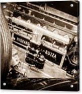1924 Hispano-suiza H6b Dual  Cowl Sport Phaeton Engine Emblem -0258s Acrylic Print