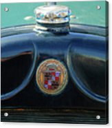 1925 Cadillac Hood Ornament And Emblem Acrylic Print