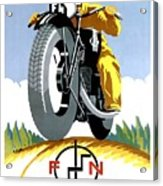 1925 Fn Motorcycles Advertising Poster Acrylic Print