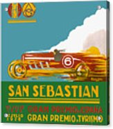 1926 San Sebastian Grand Prix Racing Poster Acrylic Print