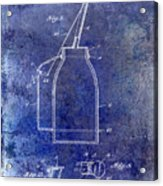 1927 Oil Can Patent Blue Acrylic Print