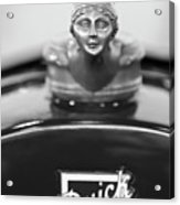 1928 Buick Custom Speedster Hood Ornament 4 Acrylic Print