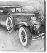 1928 Duesenberg Model J - Automotive Art - Car Posters Acrylic Print