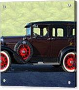 Historical Ford 4 Door Sedan Acrylic Print