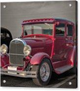 1929 Ford Model A Tudor Sedan Acrylic Print by Gene Healy