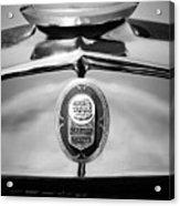 1929 Graham-paige Sport Roadster Emblem -0810bw Acrylic Print