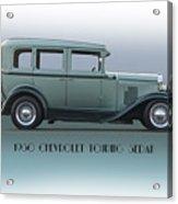 1930 Chevrolet Touring Sedan Acrylic Print