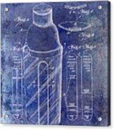 1930 Cocktail Shaker Patent Blue Acrylic Print