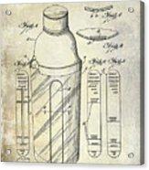 1930 Cocktail Shaker Patent Acrylic Print