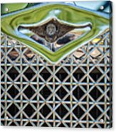 1930 Db Dodge Brothers Hood Ornament And Grille Acrylic Print