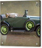 1930 Model A Ford Cabriolet Acrylic Print
