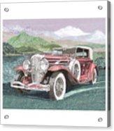 1930 Model J  Duesenberg Acrylic Print