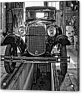 1930 Model T Ford Monochrome Acrylic Print