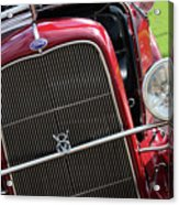 1930 Red Ford Model A-front-8886 Acrylic Print