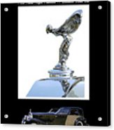 1930 Rolls Royce Mascot And Car Acrylic Print