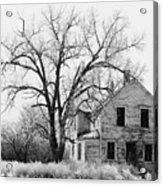 1930's Abandoned Farm House Near Aberdeen South Dakota 1965  Acrylic Print