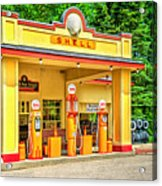 1930s Shell Gas Station Acrylic Print