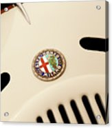 1931 Alfa Romeo 6c 1750 Gran Sport Aprile Spider Corsa Hood Emblem Acrylic Print