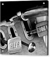 1931 Alfa Romeo 6c 1750 Gran Sport Aprile Spider Corsa Pedals -3689bw Acrylic Print