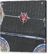 1931 Cadillac Phaeton Grille And Headlights Acrylic Print