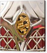 1931 Chrysler Cg Imperial Lebaron Roadster Grille Emblem Acrylic Print