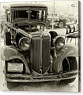 1931 Chrysler Front View Acrylic Print