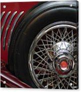 1931 Duesenberg Model J Spare Tire Acrylic Print