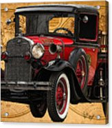 1931 Ford Model A Fire Truck Acrylic Print