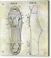 1932 Baseball Cleat Patent Acrylic Print