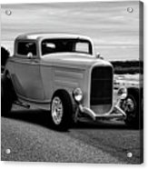 1932 Ford Coupe 'black And White' Acrylic Print