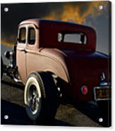 1932 Ford Five Window Coupe 'leaving Town' Acrylic Print