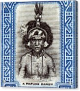 1932 Papuan Dandy Stamp Acrylic Print