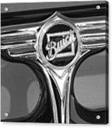 1933 Buick Victorian Emblem B And W Acrylic Print