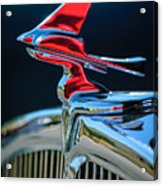 1933 Franklin Olympic Hood Ornament Acrylic Print