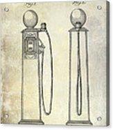 1933 Gas Pump Patent Acrylic Print