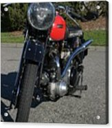 1934 Ariel Motorcycle Front View Acrylic Print