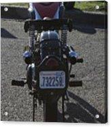 1934 Ariel Motorcycle Rear View Acrylic Print