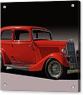 1934 Ford Red Two Door Sedan Acrylic Print
