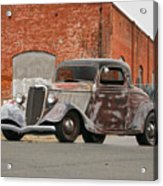 1934 Ford 'survivor' Coupe Acrylic Print