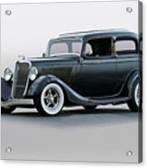 1934 Ford 'victoria' Coupe Acrylic Print
