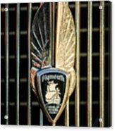 1934 Plymouth Emblem Acrylic Print