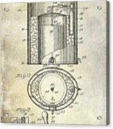 1935 Beer Equipment Patent  Acrylic Print