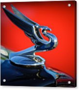 1935 Chevrolet Sedan Hood Ornament -0116c Acrylic Print